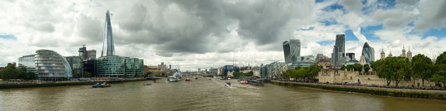 Panorama of the cityscape of London. England Stock Photos