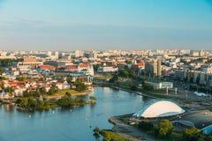 Panorama, cityscape of Minsk, Belarus. Summer Stock Photo