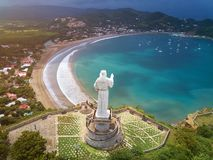 Panorama cityscape of san juan del sur. In Nicaragua stock photography