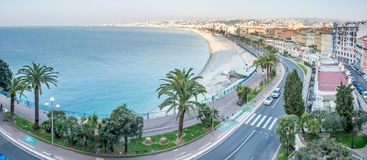 Panorama cityscape view of Nice, France Royalty Free Stock Images