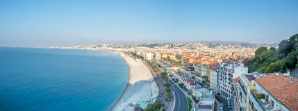 Panorama cityscape view of Nice, France Royalty Free Stock Image