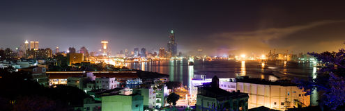 panorama- cityscapefärg Royaltyfri Foto