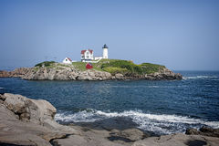 Panorama claro do Nubble Fotografia de Stock Royalty Free