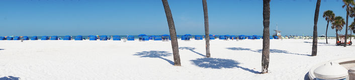 Panorama Clearwater Beach Florida. White sands at Clearwater Beach stock images