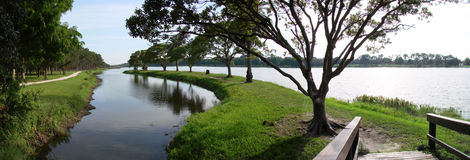 panorama clearwater fl jeziora. Fotografia Royalty Free