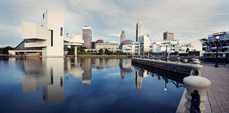 Panorama of Cleveland Royalty Free Stock Photos