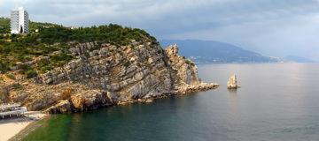 Panorama of cliffs and the sea Stock Photography