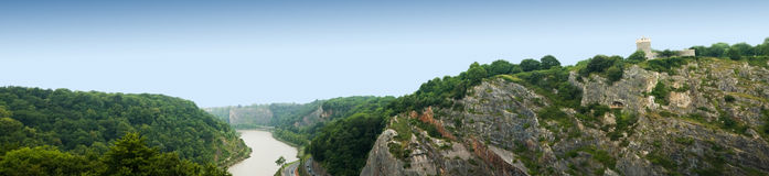 Panorama from clifton suspension bridge in bristol Stock Photography