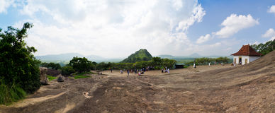 Panorama close cave temple in Dambulla Royalty Free Stock Photo