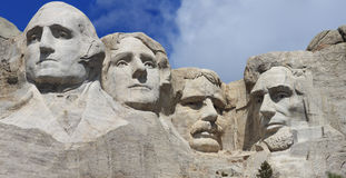 Panorama close up of Mount Rushmore Stock Photo