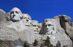 Panorama close up of Mount Rushmore Stock Photography
