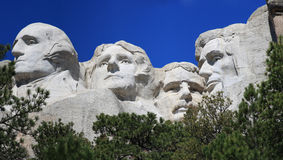 Panorama close up of Mount Rushmore Stock Image