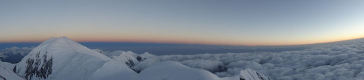 panorama clouds berg Pamir Royaltyfri Fotografi