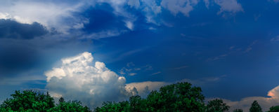 Panorama clouds Royalty Free Stock Images