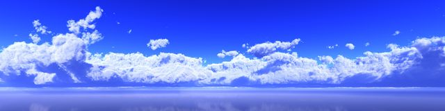 Panorama the clouds, a huge cloud over the sea Royalty Free Stock Photos