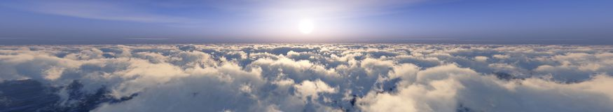 Panorama of the clouds Stock Photo