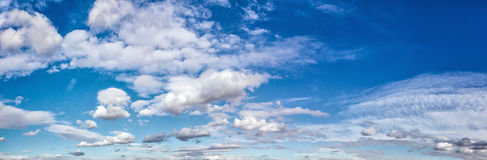 Panorama of clouds on sky Royalty Free Stock Image