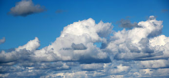 Panorama of  Clouds in Spring Royalty Free Stock Photo