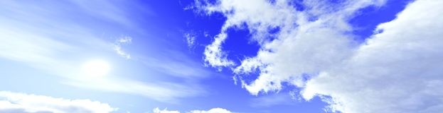 Panorama of the clouds Stock Photography