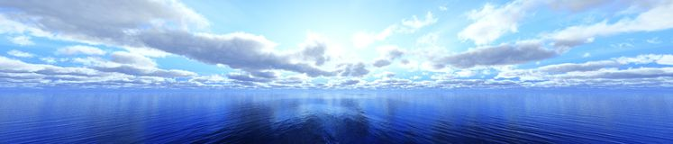 Panorama of the clouds Stock Image