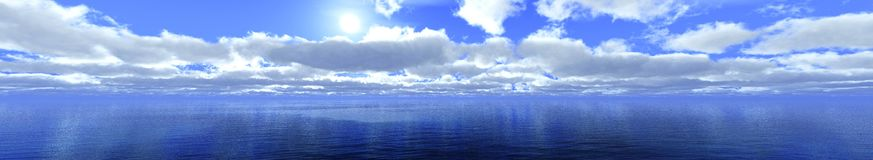 Panorama of the clouds Royalty Free Stock Photo