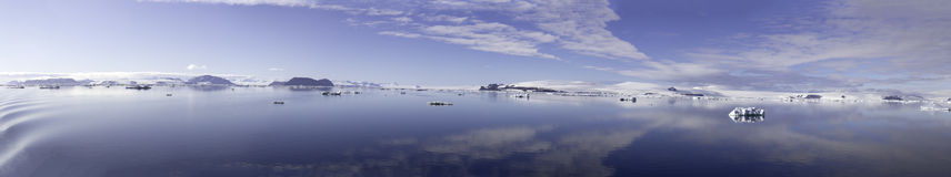 Panorama of Cloudscape in Antarctic Sound Royalty Free Stock Images