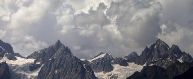 Panorama cloudy mountains Stock Photo