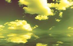 Panorama of cloudy sky Royalty Free Stock Photos