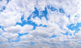 Panorama of cloudy sky Royalty Free Stock Photos