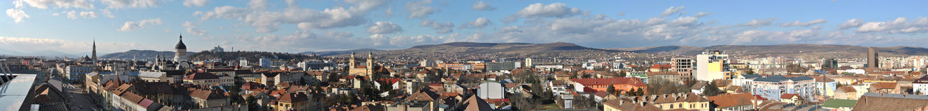Panorama of Cluj 2 Stock Photos