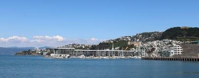 Panorama Clyde Quay Wharf Wellington New Zealand Imagem de Stock