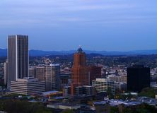 Panorama céntrico 1 de Portland Foto de archivo