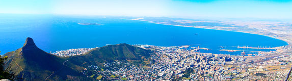 Panorama of the coast of Cape Town Stock Photo