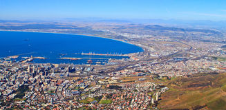 Panorama of the coast of Cape Town Royalty Free Stock Images