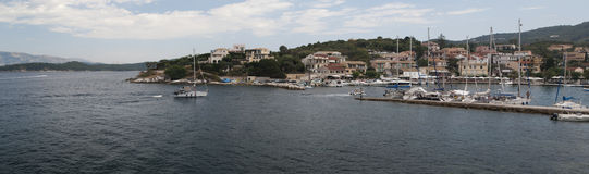Panorama of the coast of Corfu Royalty Free Stock Images