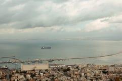 Panorama of the coast of Haifa . Stock Photography