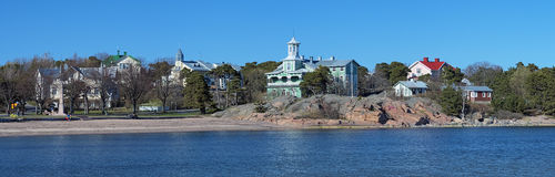 Panorama of the coast of Hanko, Finland Stock Photo