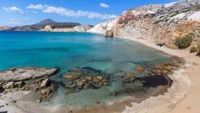 Panorama of the coast of Milos island Stock Image
