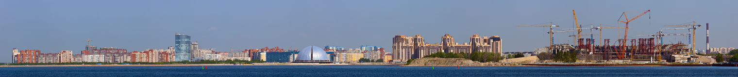 Panorama of coast in Sankt-Peterburg Stock Images