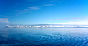 Panorama of coast in Spitzbergen Stock Photos