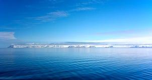 Panorama of coast in Spitzbergen. From Arctic ocean Stock Photos
