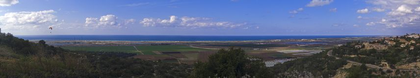 Panorama of the Coastal Plain Stock Photo