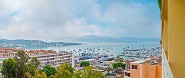 Panorama of the coastal quarter of Ajaccio Stock Image