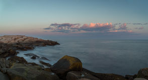 Panorama of  Coastal Scene at Peggys Cove's Stock Photography