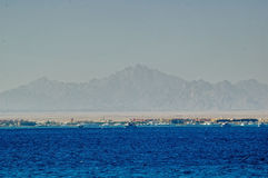 Panorama coastline of Red sea in Hurghada. Egypt Stock Images