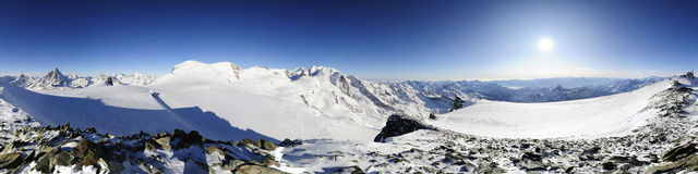 Panorama from cobba di rollin Royalty Free Stock Photography