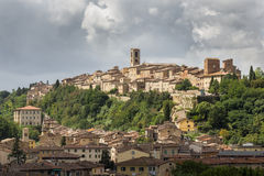 Panorama of Colle di Val d'Elsa, the city of crystal, Tuscany, Italy Royalty Free Stock Photography