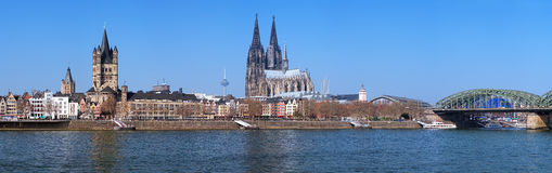 Panorama of Cologne, Germany Stock Images