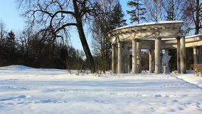 Panorama of Colonnade in Pavlovsk Stock Photos