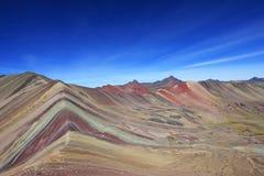 Panorama coloré Pérou de montagne d'arc-en-ciel Photo libre de droits